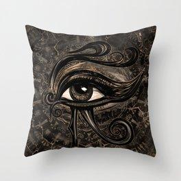 Egyptian Eye of Horus - Wadjet Digital Art Throw Pillow