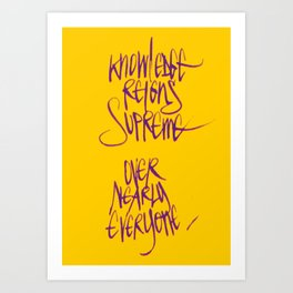 Knowledge #2 Art Print