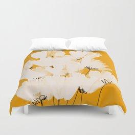 Flowers In Tangerine Duvet Cover