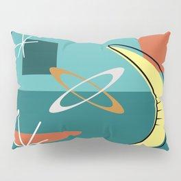 Turquoise Atomic Era Space Age Pillow Sham