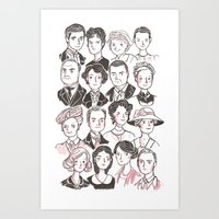 downton abbey Art Prints featuring Downton Abbey by giovanamedeiros