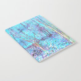 Van Gogh Trees & Underwood Aqua Lavender Notebook