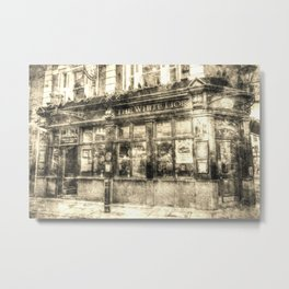 The White Lion Covent Garden London Vintage Metal Print