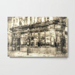 The White Lion Covent Garden London Vintage Metal Print