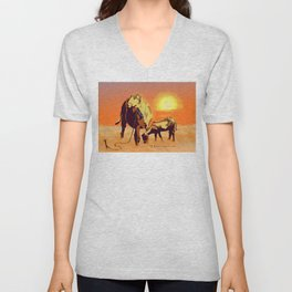 Barbados' Gold, Creatures of the Caribbean Unisex V-Neck