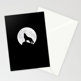 Howling Wolf - Moon Stationery Cards