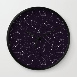 constellations pattern Wall Clock
