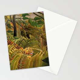 Tiger in a Tropical Storm - Surprised! by Henri Rousseau Stationery Cards