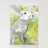 rabbit Stationery Cards featuring Rabbit by Melissa McGill