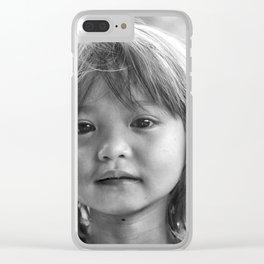 Portrait_The Malaysian borneo native kid Clear iPhone Case