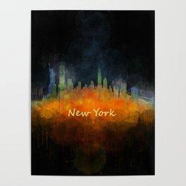 New York City Skyline Hq V04 Poster