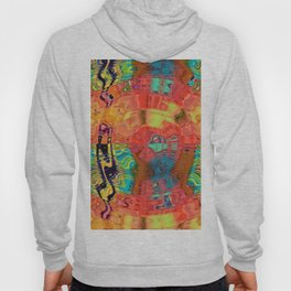 Abstract (Fractal Art) Swirls (Orange, Blue, Teal, Green & Black) Hoody