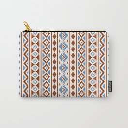 Aztec Essence Pattern II Rust Blue Cream Carry-All Pouch