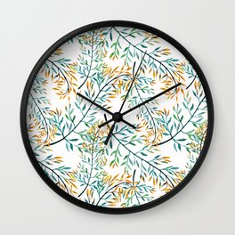 Delicate leaves . Wall Clock