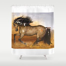HORSE - Cherokee Shower Curtain