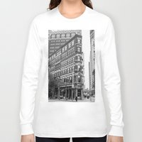 building Long Sleeve T-shirts featuring BUILDING by Stephanie Michelle