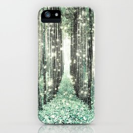 Magical Forest Seafoam Green Gray iPhone Case