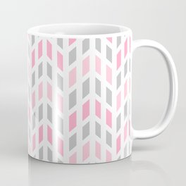 Pink Gray Mosaic Tile  Coffee Mug