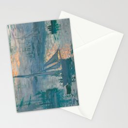 Sunrise Marine by Claude Monet, 1873 Stationery Cards