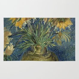Fritillaries in a Copper Vase by Vincent van Gogh Rug