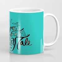 fairy tale Mugs featuring Fairy Tale by Leah Flores