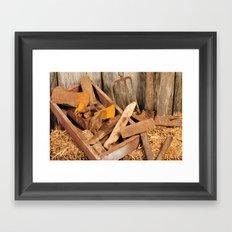 Rusted tools Framed Art Print
