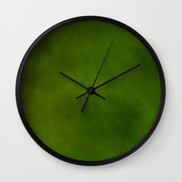 Green Color Velvet Wall Clock