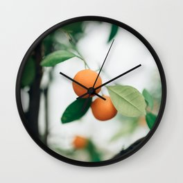 Orange Tree Wall Clock