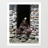 Holy man Art Print