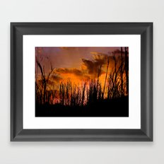 Fall's First Sunset Framed Art Print