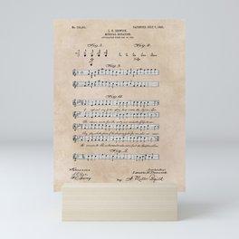 patent art Beswick Musical notation 1903 Mini Art Print