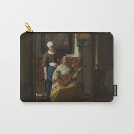 The love letter - Johannes Vermeer (1668-1670) Carry-All Pouch