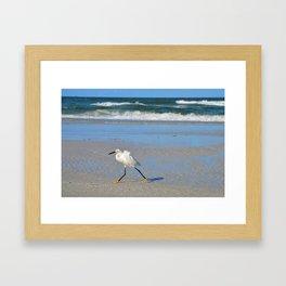 Beach stroll Framed Art Print