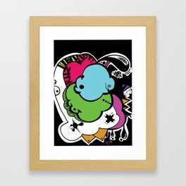 My experiment with shapes and other trash Framed Art Print