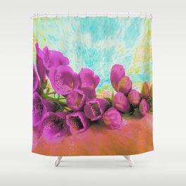 Summer Foxglove Shower Curtain