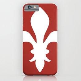 Fleur de Lis (White & Maroon) iPhone Case