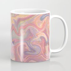 Pastel Liquid in Water with Raw Gold Mug