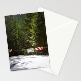 Road Closed Stationery Cards
