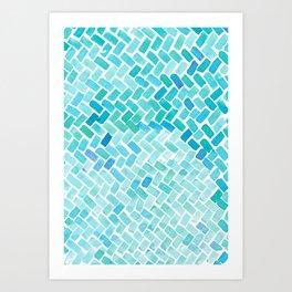 pavement Art Print