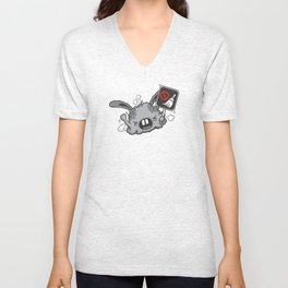 Dust Bunny Hate Clean! Unisex V-Neck