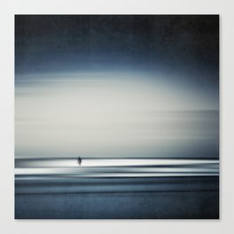sea + surfer abstract Canvas Print
