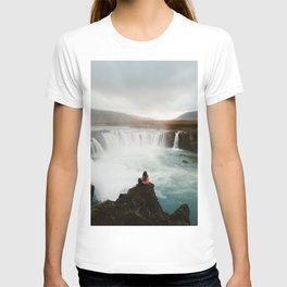 Last sunlight at Godafoss Waterfall T-shirt
