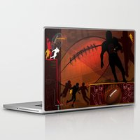football Laptop & iPad Skins featuring Football by Robin Curtiss
