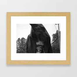 hooded Framed Art Print
