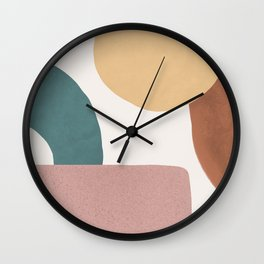 Abstract Earth 1.2 - Painted Shapes Wall Clock