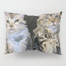 Marble Meows Pillow Sham