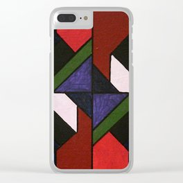 Tangram Art #5: Stained Glass Clear iPhone Case