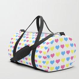 '80s hearts (larger) - Back to Basics Duffle Bag