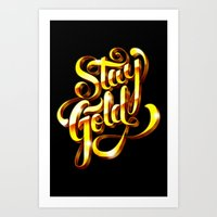 stay gold Art Prints featuring Stay Gold by Roberlan Borges