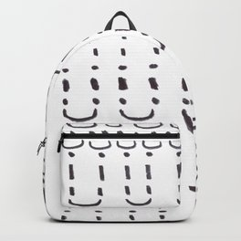 Ancient Tribal Marking Patterns Hand Drawn Pattern Symbols Shapes Black And White Backpack